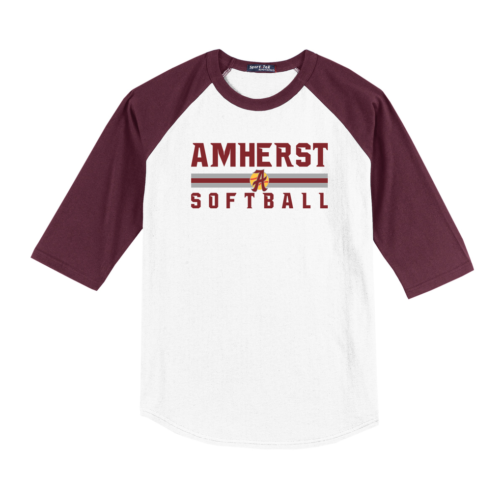 Amherst Softball  3/4 Sleeve Baseball Shirt