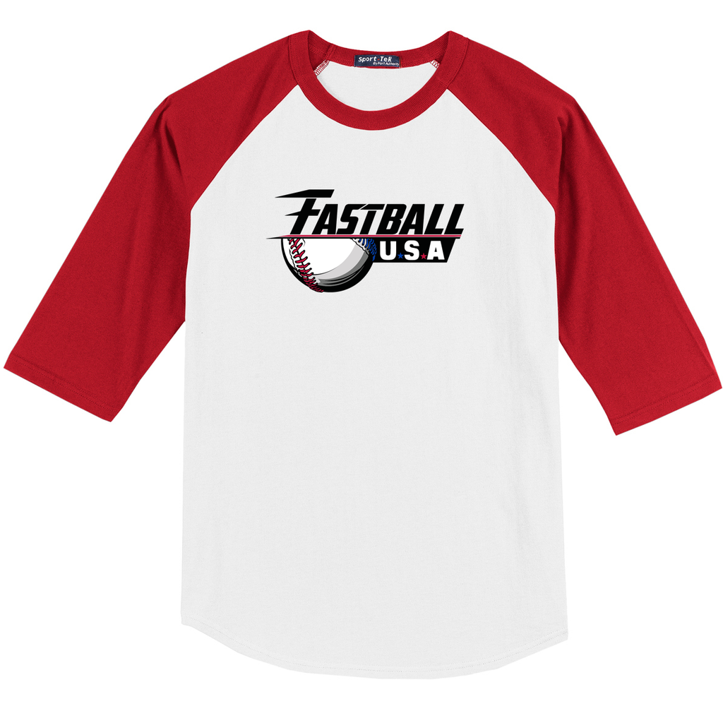 Fastball USA Academy Baseball  3/4 Sleeve Baseball Shirt