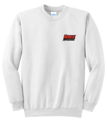 Rebels Lacrosse White Crew Neck Sweater