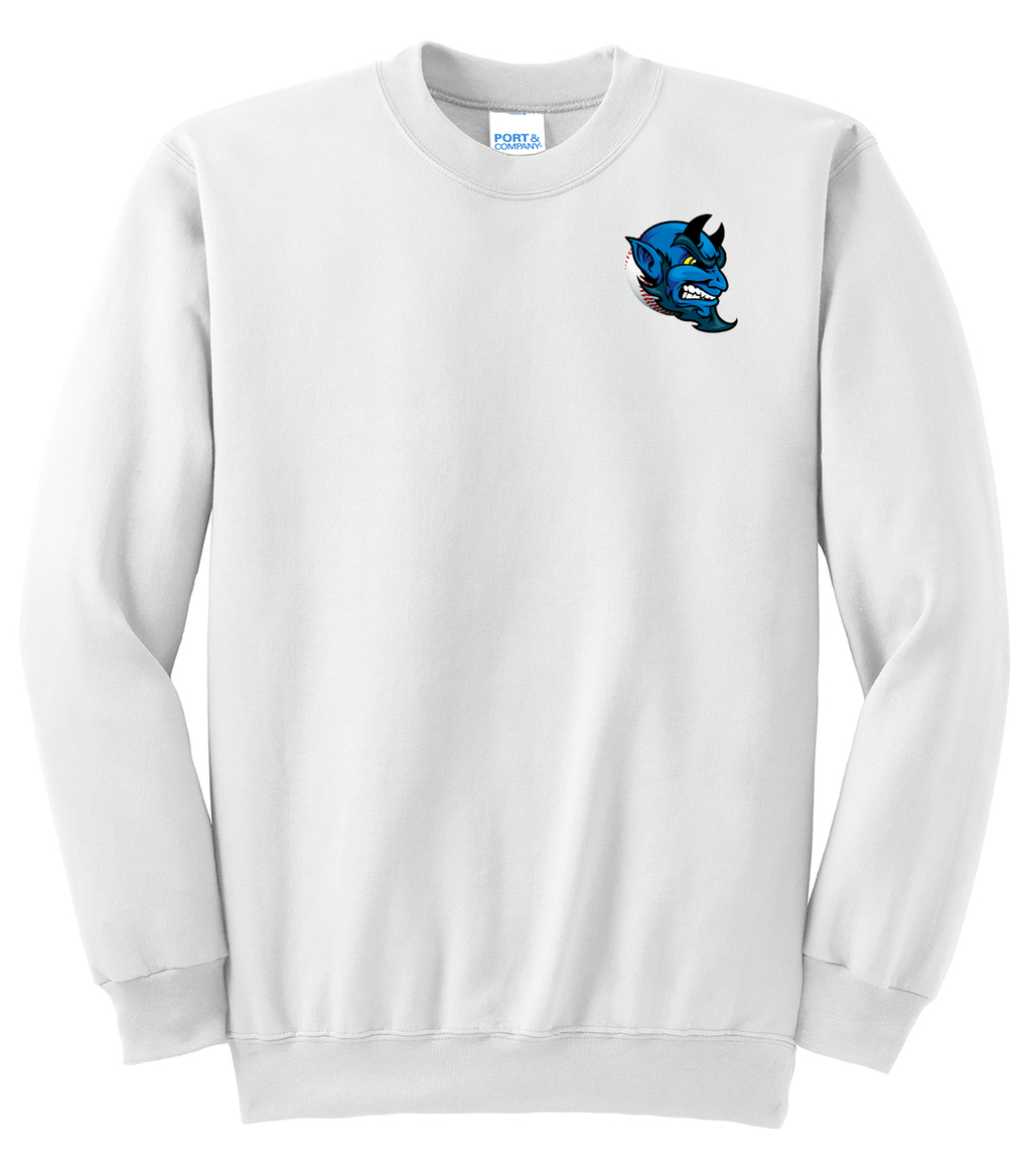Blue Devils Baseball Crew Neck Sweater