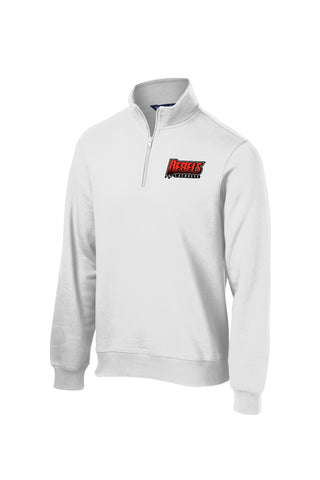 Rebels Lacrosse 1/4 Zip Fleece (White)
