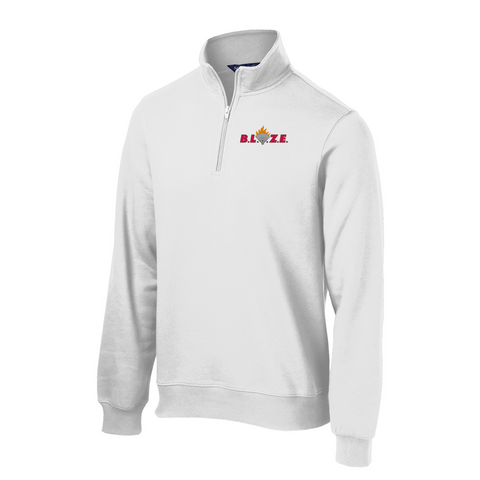 Oxford Youth Lacrosse Men's White 1/4 Zip Fleece