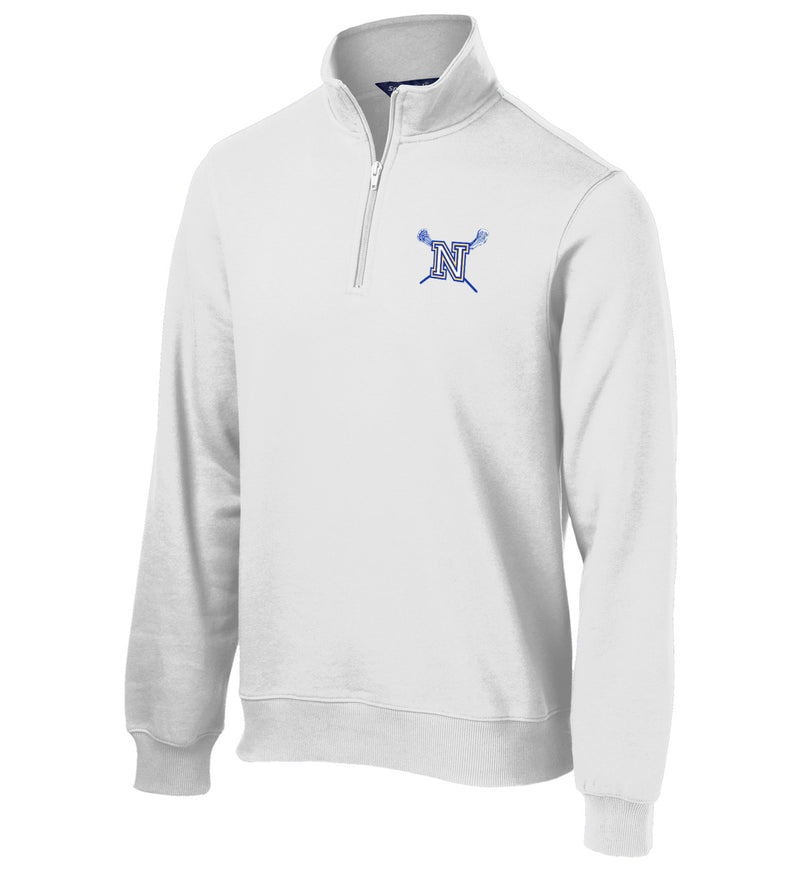 Newington Lacrosse White 1/4 Zip Fleece