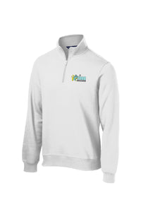 Frog Girls Lacrosse White 1/4 Zip Fleece