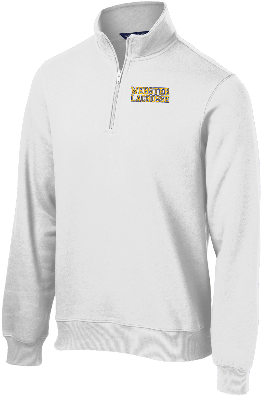 Webster Lacrosse Men's White 1/4 Zip Fleece