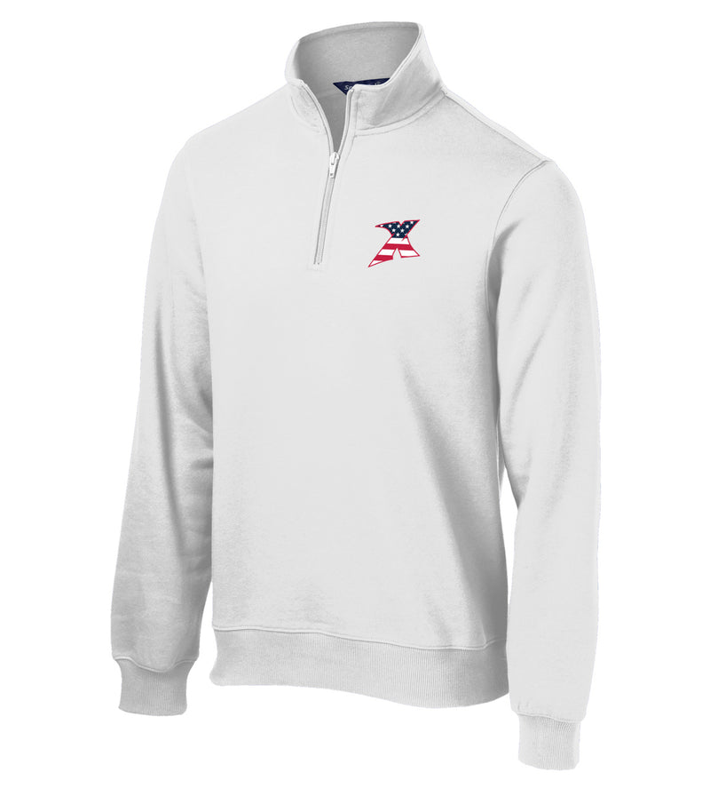 MDX White 1/4 Zip Fleece