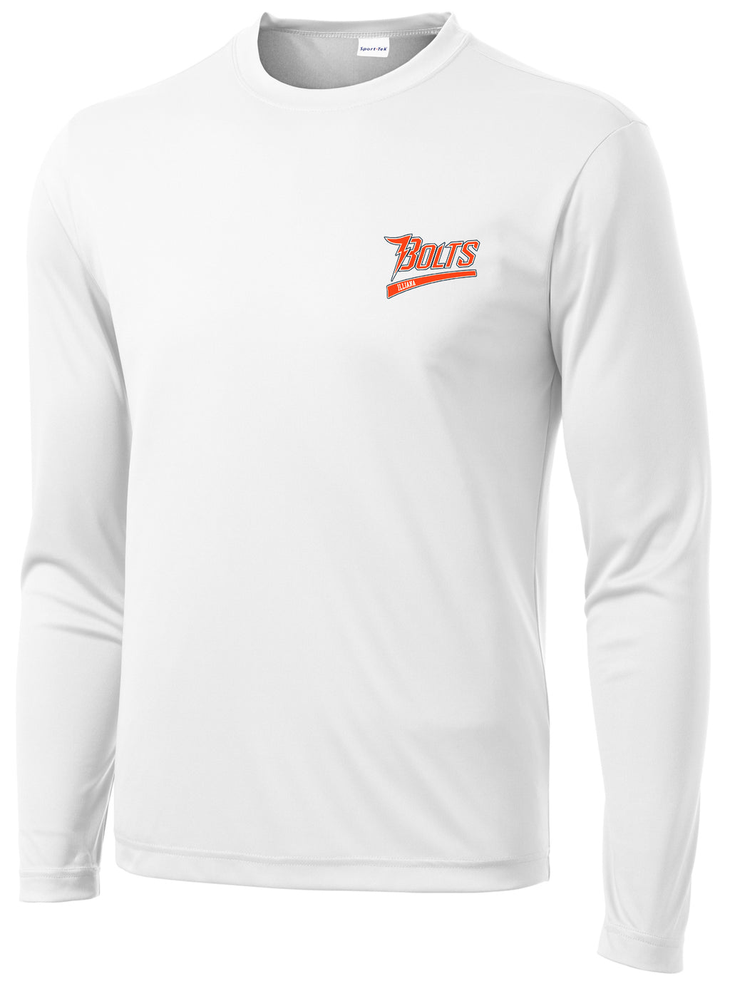 Illiana Thunderbolts White Long Sleeve Performance Shirt