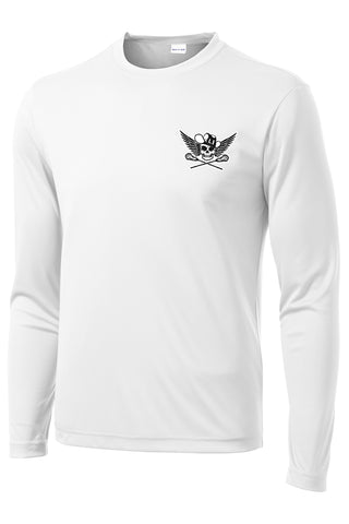 Outlaws White Long Sleeve Performance Shirt