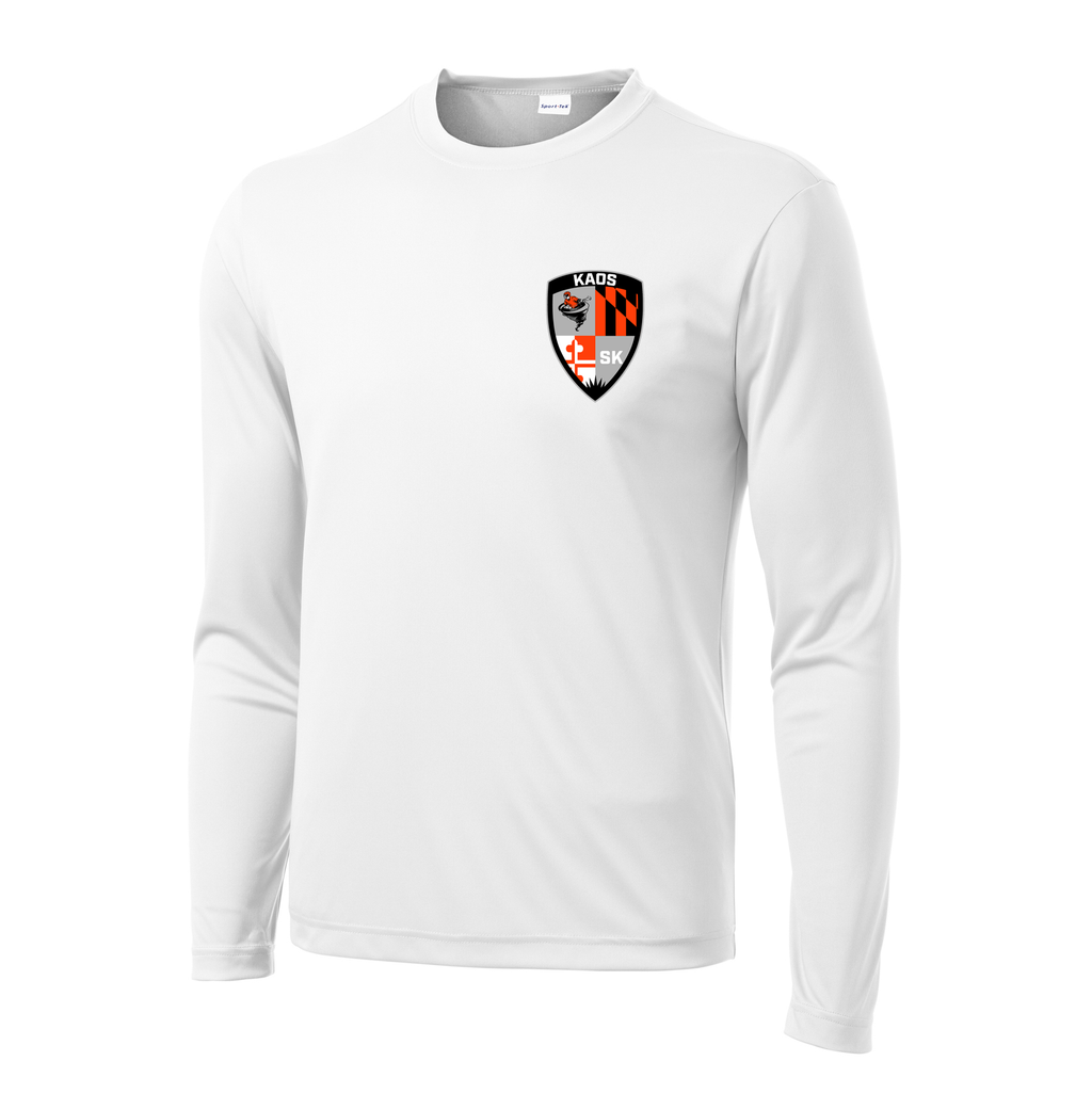 Shore Kaos White Long Sleeve Performance Shirt