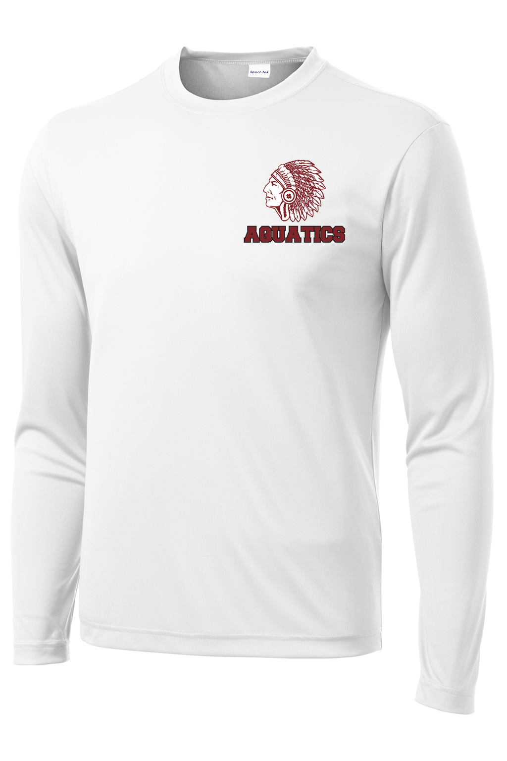 Farmington Aquatics White Long Sleeve Performance Shirt