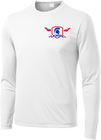 Bixby Lacrosse White Long Sleeve Performance Shirt