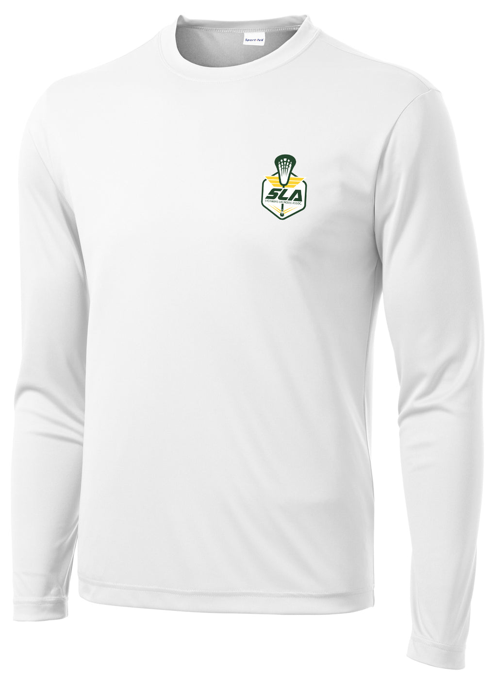 Sycamore Lacrosse Association White Long Sleeve Performance Shirt