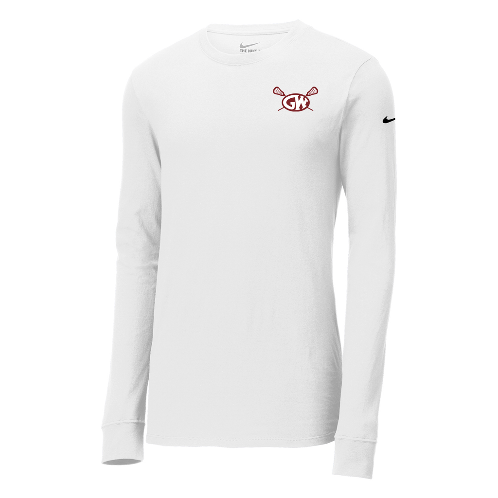 George Washington Lacrosse Nike Core Cotton Long Sleeve Tee