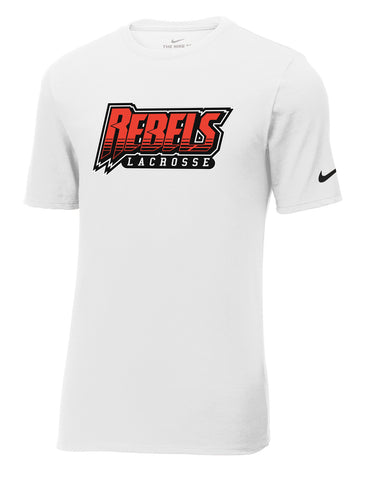 Rebels Lacrosse White Nike Core Cotton Tee