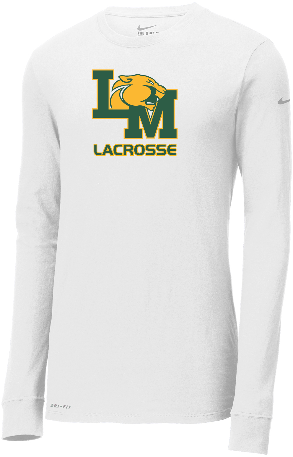 Little Miami Lacrosse White Nike Dri-FIT Long Sleeve Tee