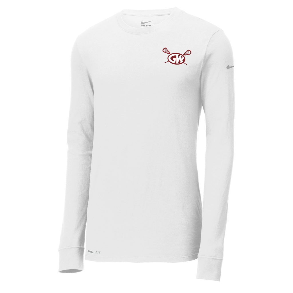 George Washington Lacrosse Nike Dri-FIT Long Sleeve Tee