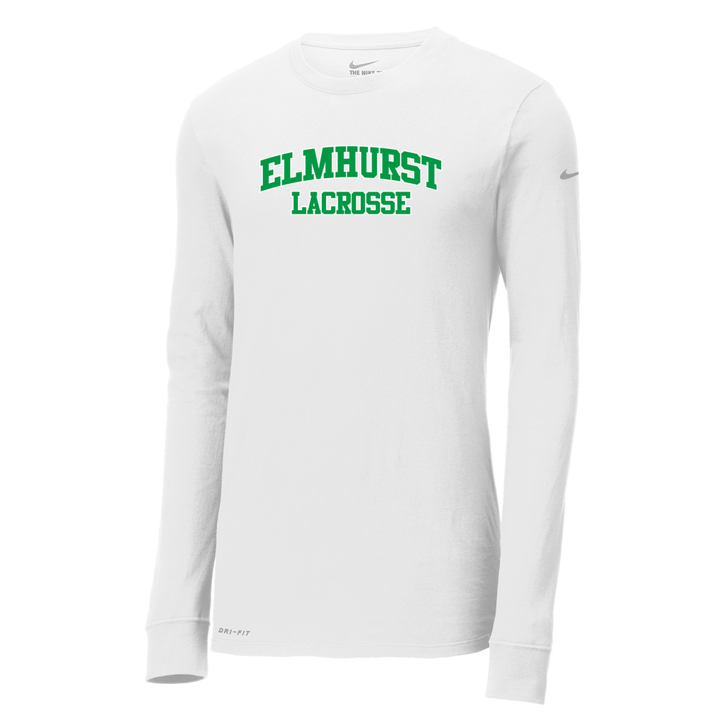 Elmhurst Lacrosse Nike Dri-FIT Long Sleeve Tee