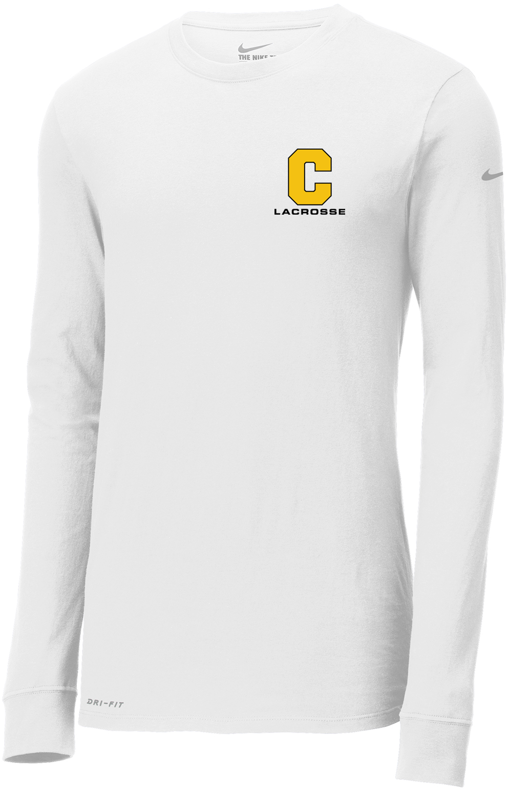 Commack Youth Lacrosse White Nike Dri-FIT Long Sleeve Tee