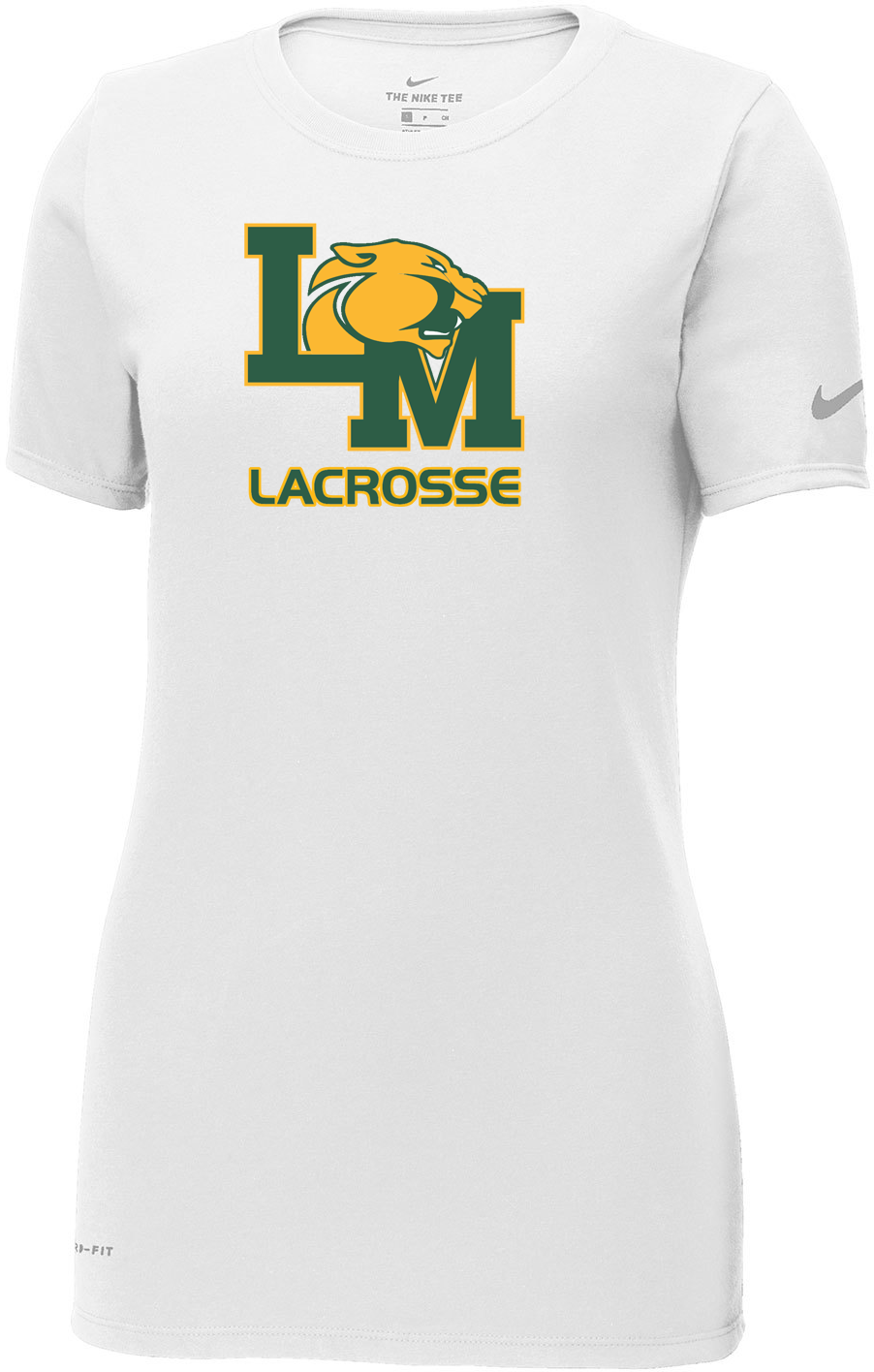 Little Miami Lacrosse White Nike Ladies Dri-FIT Tee