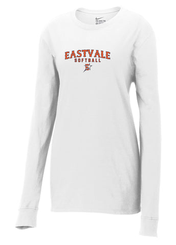 Eastvale Girl's Softball Nike Ladies Core Cotton Long Sleeve Tee