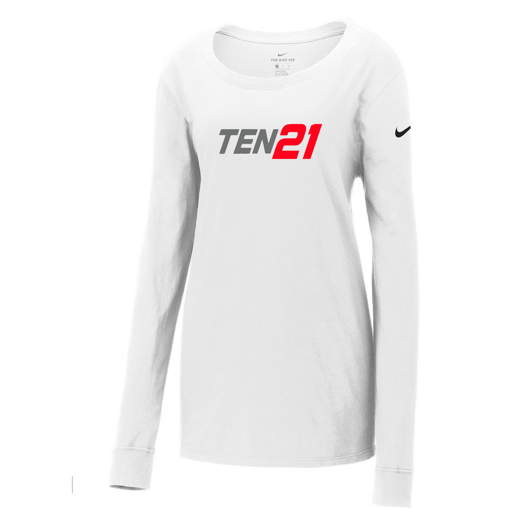 TEN21 Lacrosse Nike Ladies Core Cotton Long Sleeve Tee