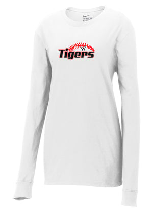 Willard Tigers Baseball Nike Ladies Core Cotton Long Sleeve Tee