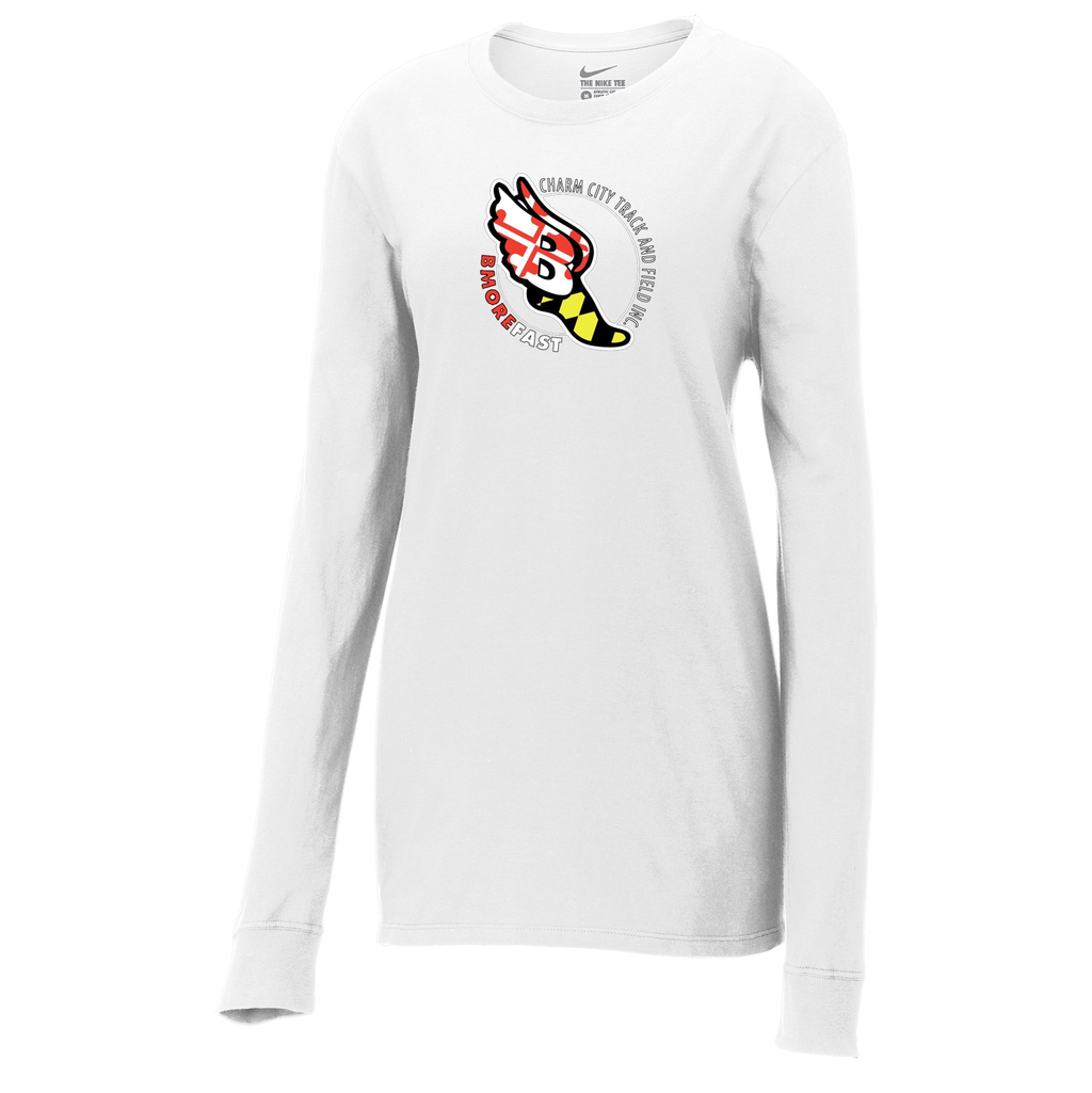 Baltimore City T&F  Nike Ladies Core Cotton Long Sleeve Tee
