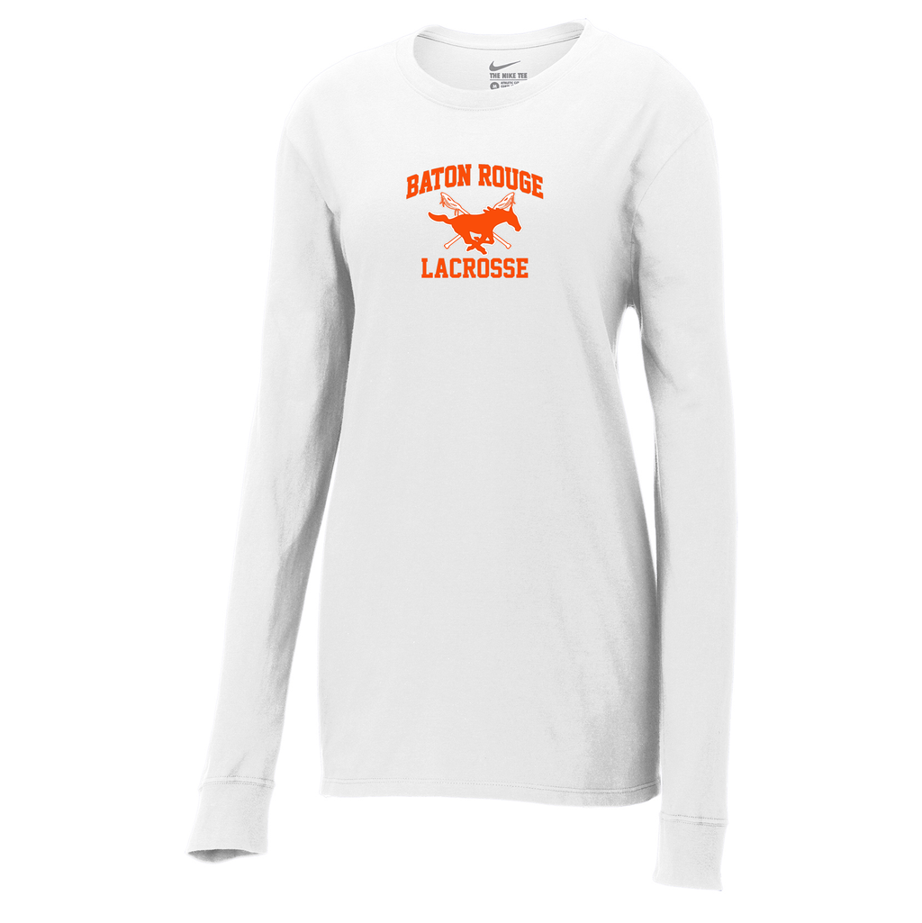 Baton Rouge Mustangs  Nike Ladies Core Cotton Long Sleeve Tee