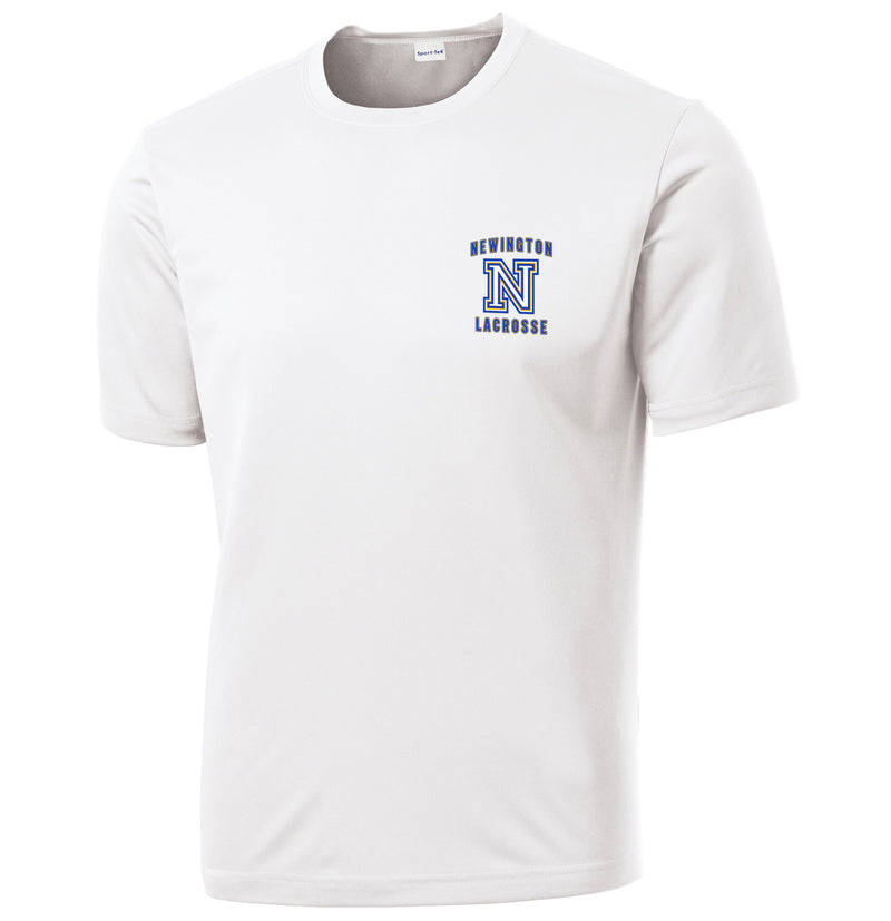 Newington Lacrosse White Performance T-Shirt