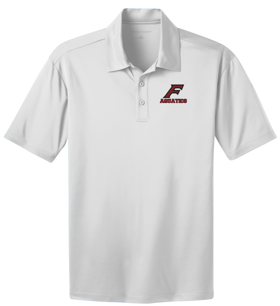 Farmington Aquatics White Polo