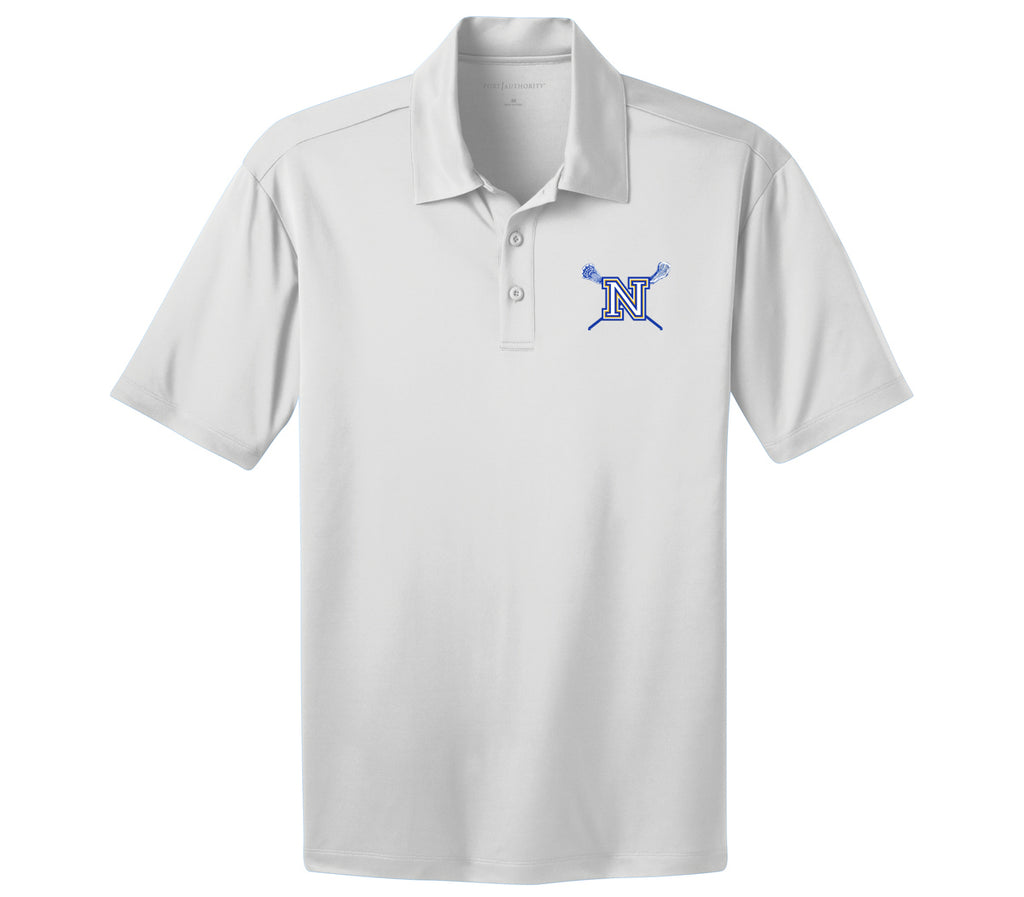 Newington Lacrosse White Polo