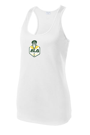 Sycamore Lacrosse Association Women's White Racerback Tank
