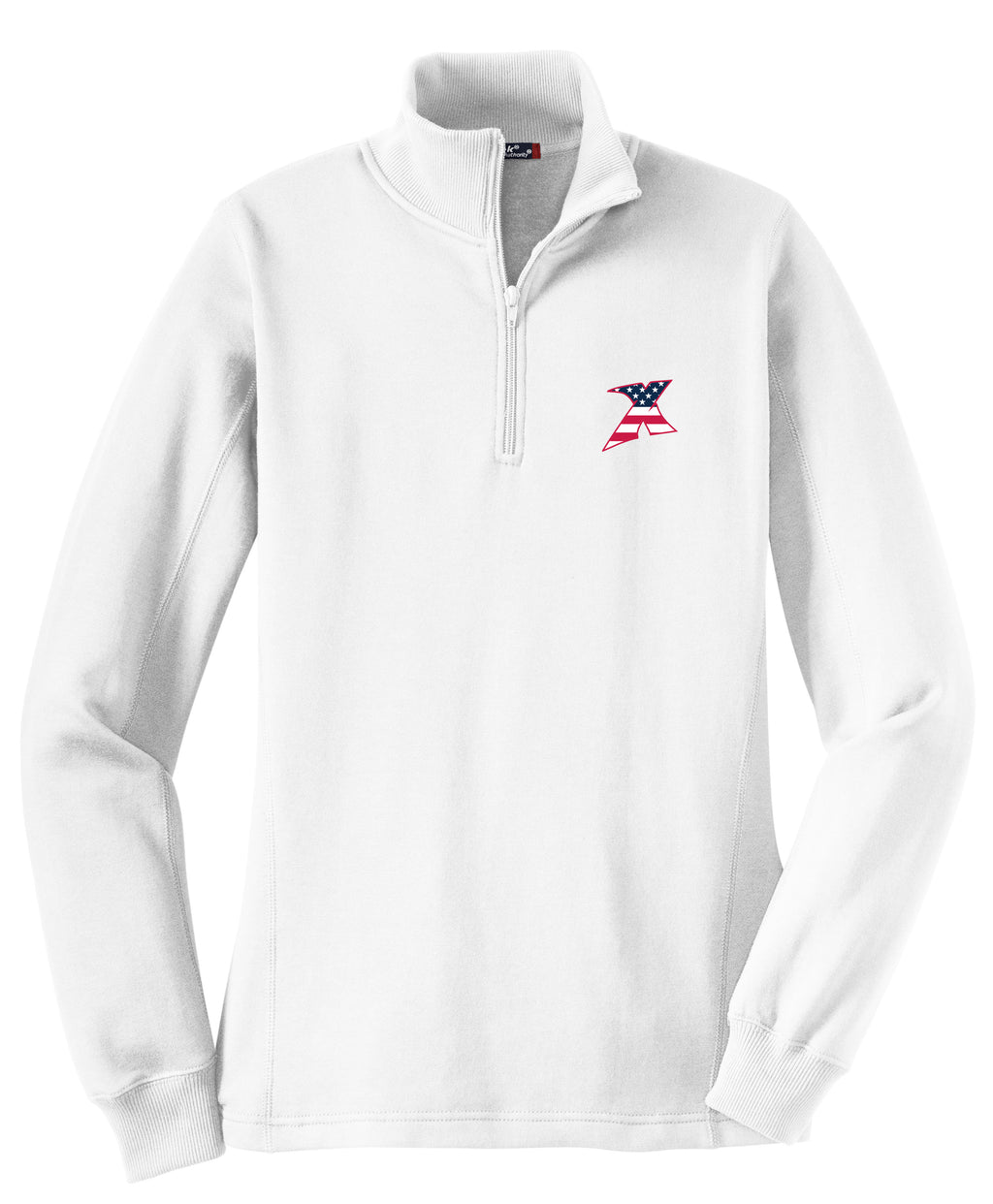 MDX Women's White 1/4 Zip Fleece