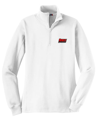 Rebels Lacrosse Women's White 1/4 Zip Fleece