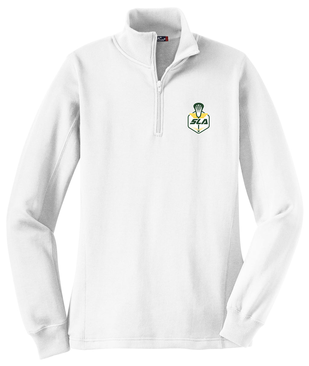 Sycamore Lacrosse Association Women's White 1/4 Zip Fleece