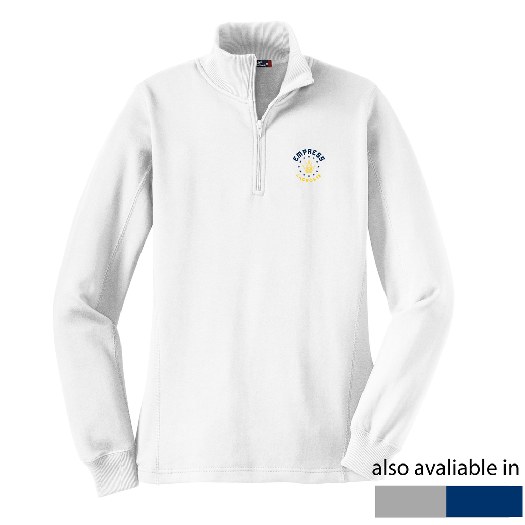 Empress Lacrosse Women's White 1/4 Zip Fleece
