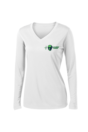 Flatliners Lacrosse Women's White Long Sleeve Performance Shirt