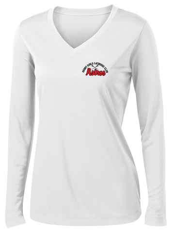 Derry Girls Lacrosse Women's White Long Sleeve Performance Shirt