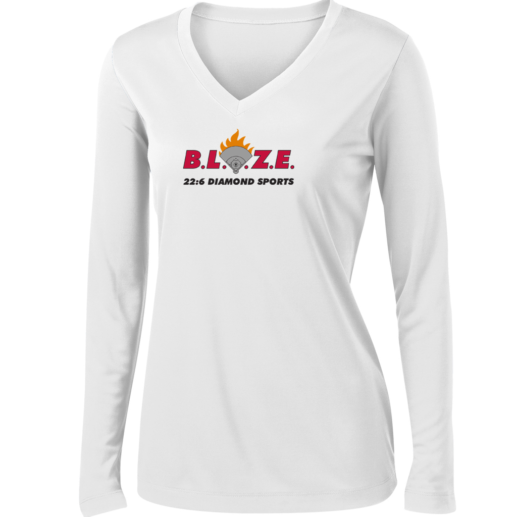 BLAZE 22:6 Diamond Sports Women's Long Sleeve Performance Shirt