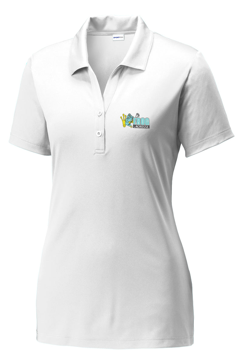 Frog Girls Lacrosse Women's White Polo