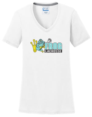 Frog Girls Lacrosse Women's White T-Shirt
