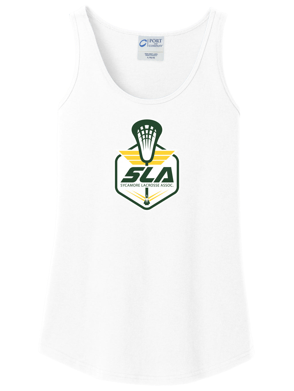 Sycamore Lacrosse Association Women's White Tank Top