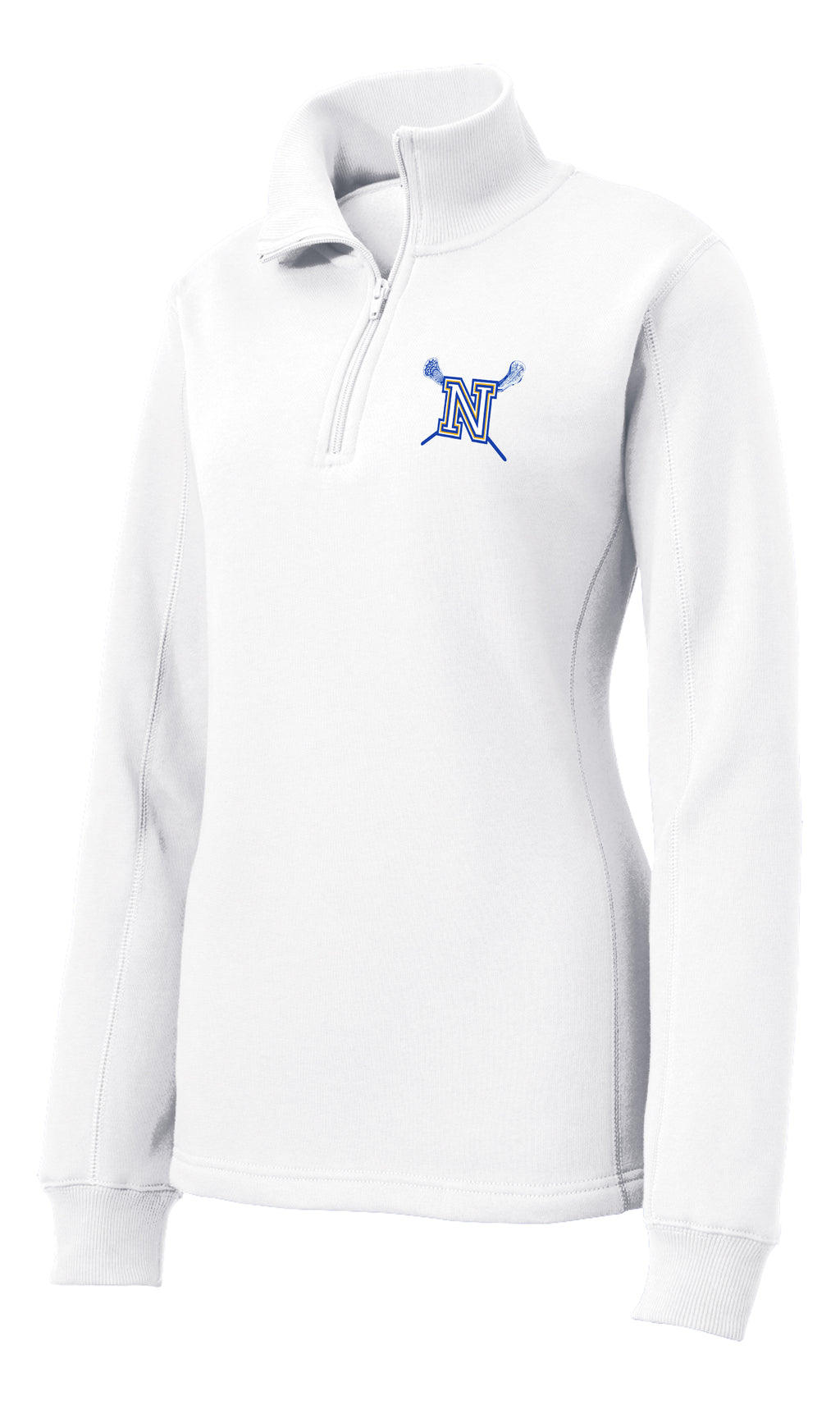 Newington Lacrosse Women's White 1/4 Zip Fleece