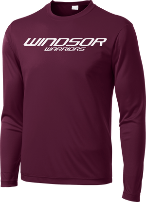 Windsor Maroon Long Sleeve Performance Shirt