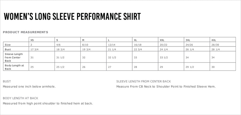 City of Burnsville Women's Long Sleeve Performance Shirt