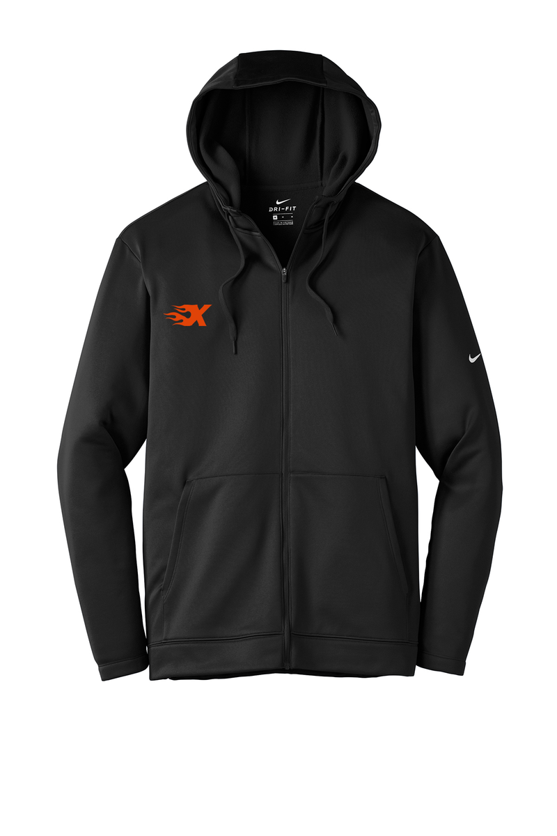 Xtreme Lacrosse Men's Black Nike Therma-FIT Full Zip Hoodie