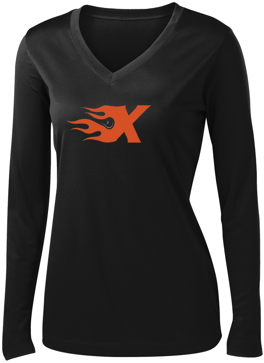 Xtreme Lacrosse Women's Black Long Sleeve Performance Shirt