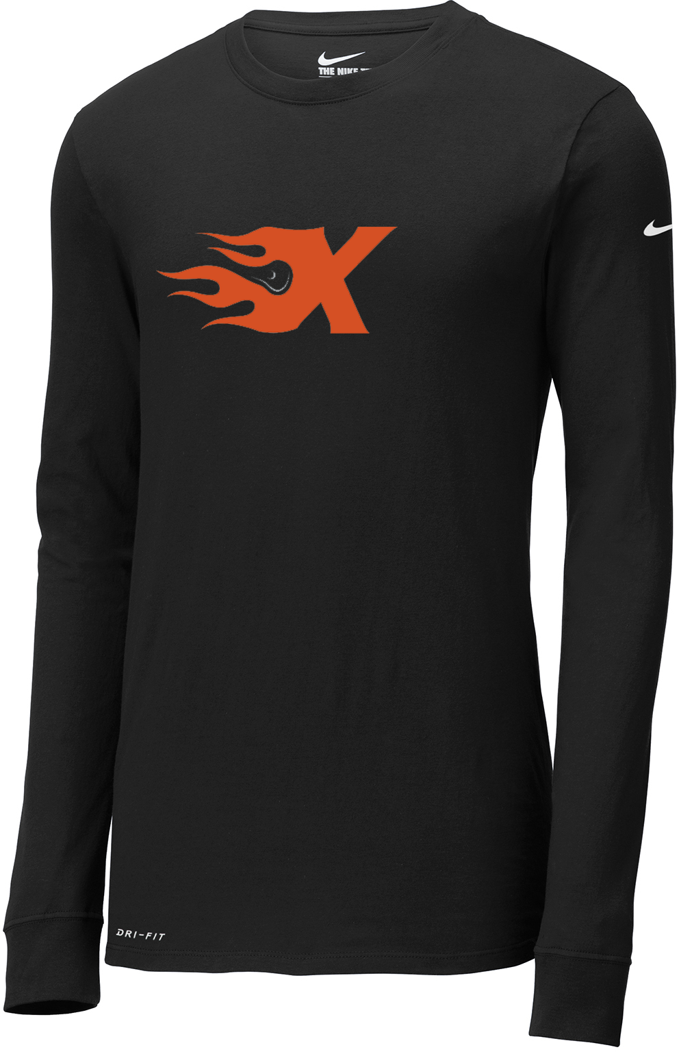 Xtreme Lacrosse Black Nike Dri-FIT Long Sleeve Tee
