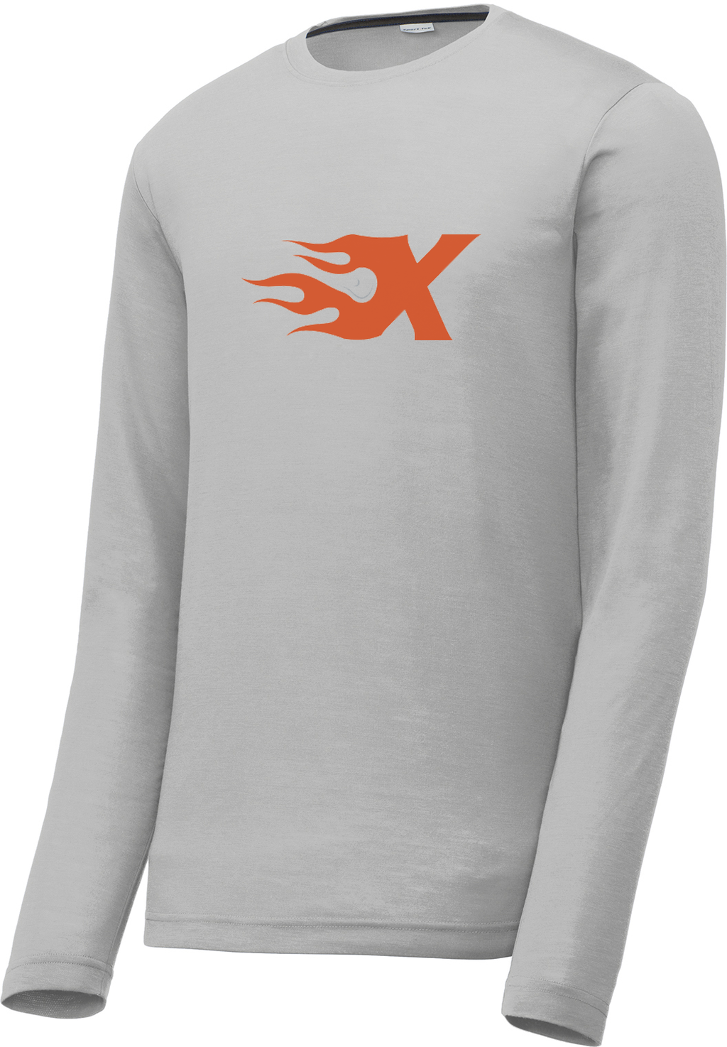 Xtreme Lacrosse Silver Long Sleeve CottonTouch Performance Shirt