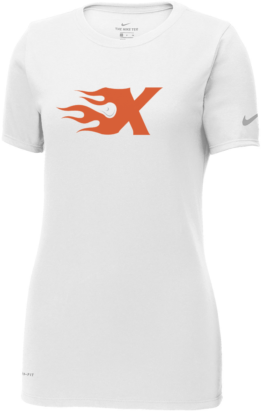 Xtreme Lacrosse White Nike Ladies Dri-FIT Tee